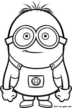 Minions Coloring Pages Evil Minion Despicable Me 2 Two Eyed Page
