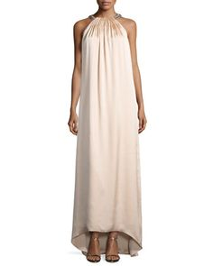 Beaded Halter Maxi Dress by Kobi Halperin at Neiman Marcus.