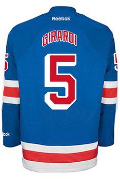 New York Rangers Dan GIRARDI  5  A  Official Home Reebok Premier Replica  Adult N CoolHockey. Brian LeetchNhl Hockey JerseysNew ... 7bd728bc1