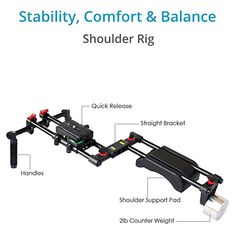 Amazon.com   FILMCITY DSLR Camera Shoulder Support Rig Kit with Cage    Matte Box  cd3416c489