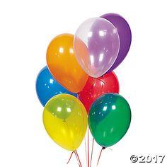 "Crystaltone Color 11"" Latex Balloons"