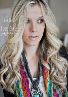 10-minute-loose-curls - Click image to find more Women's Fashion Pinterest pins