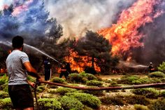 Greece wildfires: Emergency chiefs replaced — BBC News US False Flag Attacks, Strong Wind, Rest Of The World, Global Warming, Climate Change, At Least, Things To Come, Fire, Nature