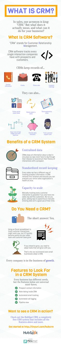 What Is CRM (Customer Relationship Management) Software?, via @HubSpot