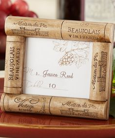 Loving this Cork Place Card Holder/Photo Frame - Set of 12 on #zulily! #zulilyfinds