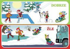 bezpieczeństwo zimowych zabaw obrazki - Szukaj w Google Winter Activities For Kids, Techno, Family Guy, Kids Rugs, Baseball Cards, Education, Children, School, Character