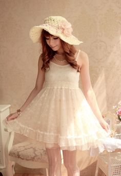 Japan Kawaii Princess Cute Sweet Dolly Lolita elegant Lace Sleeveless Dress