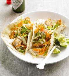 Fish Tacos with Lime Sauce from the Better Homes and Gardens Must-Have Recipes App