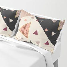 Triangles&Palms #society6 #decor #buyart Pillow Sham