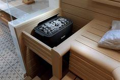 Helo Havanna STS tarjoaa oikean tehoisen kiukaan 3-13 m3 -kokoisiin saunoihin. Sauna Room, Western Red Cedar, Extra Seating, Garden Furniture, Simple Designs, Benches, Interior, House, Decoration