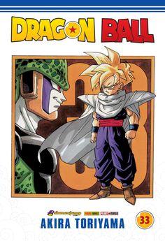 Dragon Ball #33 – de Akira Toriyama Série mensal. Concluída no Japão com 42 volumes. Formato 13,7x20 cm, 192 páginas, R$ 11,50. Trunks é derrotado por Cell, que, em seguida, anuncia um torneio de artes marciais, os Jogos do Cell! Goku e Gohan terminam seu treinamento e atingem um novo nível supersaiyajin! O dia do torneio chega e os guerreiros se reúnem para enfrentar Cell, mas um inusitado lutador, intitulado como o mais poderoso da Terra, se intromete na briga e parte pra cima de Cell!!