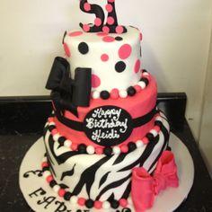 51st birthday cake zebra print