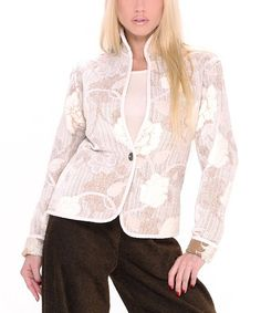 Another great find on #zulily! Khangura Ivory Freeze Reversible Jacket by Khangura #zulilyfinds