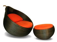 Half Orange & foot stool from Koji Collection