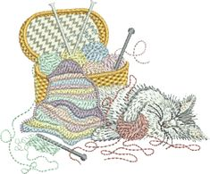 Sue Box Creations | Download Embroidery Designs | 06 - Kitten