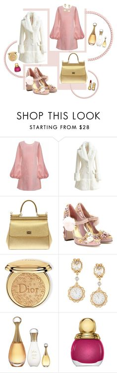 """I Love Being a Girl"" by keida ❤ liked on Polyvore featuring Cynthia Rowley, WithChic, Dolce&Gabbana and Christian Dior"