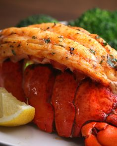 Lobster Dinner For Two Baked Lobster Tails Lobster Recipes, Fish Recipes, Seafood Recipes, Dinner Recipes, Cooking Recipes, What's Cooking, Cooking Ideas, Baked Lobster Tails, Shrimp And Lobster