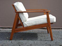 Vintage lounge chair, Mid Century, 1960s, Danish Modern, Solid walnut