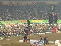 """""""As a result, you are just getting some random, blurry iPhone photos illustrating our second AMA Monster Energy Supercross event in as many weeks, this time at Detroit's own Ford Field."""" View the rest at the link...  http://reelroyreviews.com/2014/03/16/supercross-part-deux-ama-monster-energy-supercross-at-detroits-ford-field"""