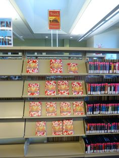 Valentine's Day 2015 book display at the Temecula Public Library Teen Zone