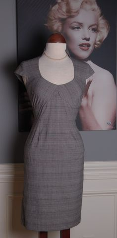 """Rags 2 Vintage - """"Risky Business""""~Vintage Retro 80s does 50s Plaid Pin-Up Wiggle Pencil Dress, $39.99 (http://www.rags2vintage.com/risky-business-vintage-retro-80s-does-50s-plaid-pin-up-wiggle-pencil-dress/)"""