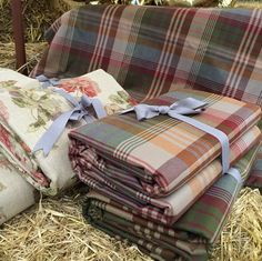 Mulberry fashion shoot accessories, the 'Ancient Tartan- Mulberry' #mulberryhome #gpjbaker #fabric