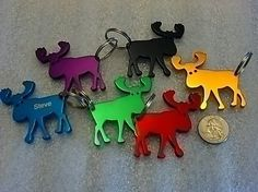 Moose Shaped Keychain with Bottle Opener  by LaserBeamCreations, $5.95