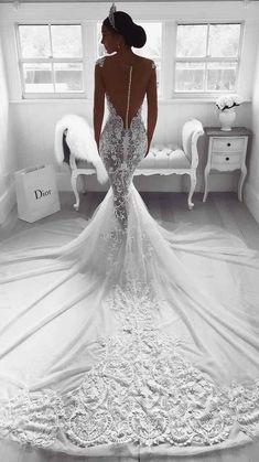 Wedding Dress Tight, Muslim Wedding Dresses, Western Wedding Dresses, Lace Mermaid Wedding Dress, Backless Wedding, Wedding Dress Trends, Mermaid Dresses, Dream Wedding Dresses, Bridal Dresses