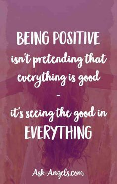 On understanding what it means to be positive.