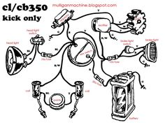 simple motorcycle wiring diagram for choppers and cafe racers honda cb350 simple wiring diagram google search
