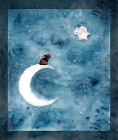 Moon bunnies. I want a print of this!!!