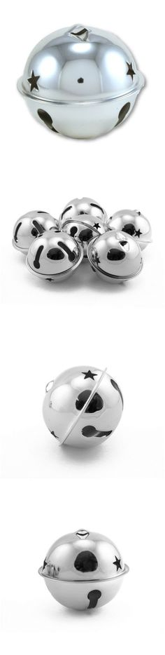 Jumbo Rusty 80mm Jingle Bell with Star Cutouts for Crafts