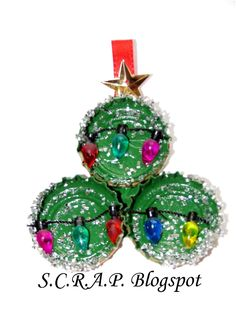 Bottle Cap Christmas Tree Christmas Tree Ornament