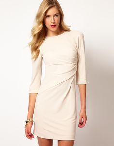 Karen Millen   Karen Millen Draped Front Jersey Dress at ASOS