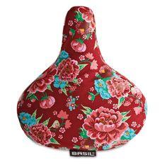 Housse de selle motifs fleuris noire - 9,95 €