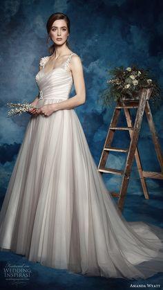 "Amanda Wyatt 2017 Wedding Dresses ""She Walks with Beauty"" Bridal Collection #bridal #wedding #weddingdress #weddinggown #bridalgown #dreamgown #dreamdress #engaged #inspiration #bridalinspiration #weddinginspiration"