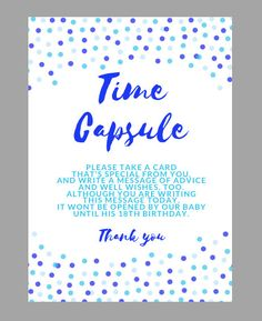 Time Capsule Sign and Cards, First Birthday Time Capsule, Boy First Birthday, 1st Birthday, Boy Time Capsule, Blue Birthday Time Capsule by TurnberryDesigns on Etsy