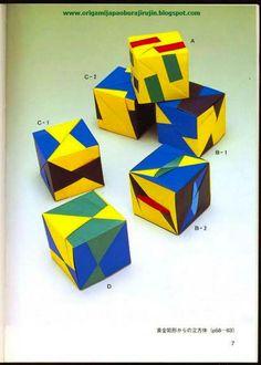 Tomoko fuse origami yunitto hiroba (unit square origami)
