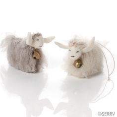Darling Himalayan Yak ornaments from Nepal. #giftswithpurpose #serrv #fairtrade