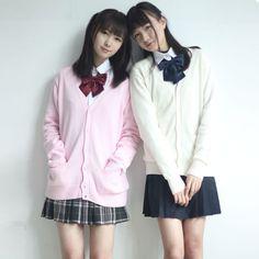 Cute kawaii uniform knitted sweater cardigan