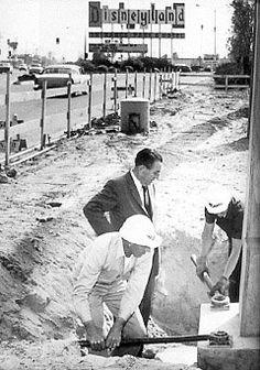 Disneyland under construction, 1954