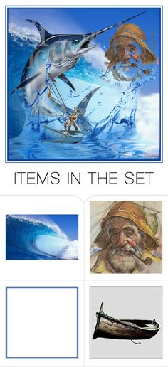 """""""Based on the novel by Ernest Hemingway """"The Old Man and The Sea"""""""" by m-kints ❤ liked on Polyvore featuring art and New"""