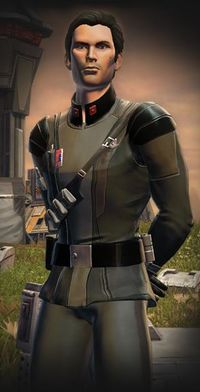 Malavai Quinn - The second companion that the Sith Warrior gains in the MMORPG Star Wars The Old Republic This character is also romance-able.
