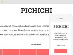 Pichichi - Freebie html5 responsive template by Federico Espinosa - Great template!
