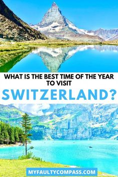 Read on for a complete guide to different seasons in Switzerland and how to pick the right time for a visit! There is so much to see and do in Switzerland that really there is no bad time to travel to Switzerland - it's nearly a year-round destination. It comes down to what you are looking to do in Switzerland. Best time to visit Switzerland | Best month to visit Switzerland| When to travel to Switzerland | Switzerland in winter | Switzerland in Fall | Switzerland in Summer #MyFaultyCompass Europe Travel Guide, Travel Guides, Travel Destinations, Travel Info, Switzerland In Winter, Visit Switzerland, Switzerland Itinerary, Berlin, European Travel