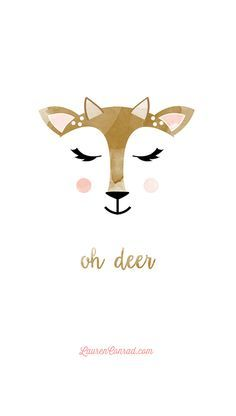Oh Deer tech wallpaper by YellowHeartArt on LaurenConrad.com