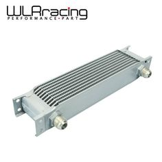 WLRING STORE- Aluminum Universal Engine transmission AN10 Oil Cooler 10rows SILVER WLR7010S #Affiliate