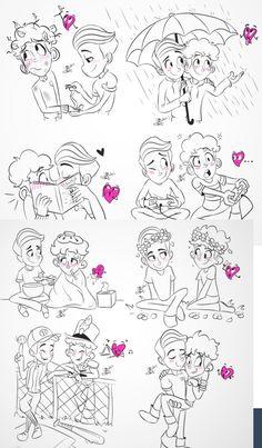 In A Heartbeat fanart Gay Comics, Cute Comics, Gay Mignon, Lgbt Memes, Cute Gay Couples, Gay Art, Wattpad, Gay Pride, In A Heartbeat