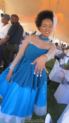 Tswana Traditional Dresses For Bridesmaids 2019 African Attire, African Wear, African Women, African Dress, African Style, African Beauty, South African Traditional Dresses, Traditional Wedding Dresses, African Print Fashion
