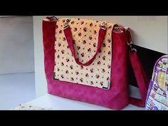 Compre o projeto completo da Bolsa de tecido Gabriele com passo a passo, lista de materiais, riscos dos moldes (em tamanho natural) e foto colorida da bolsa,...